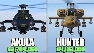 GTA 5 Online - Akula Vs Hunter ($3,704,050 Vs $4,123,000)