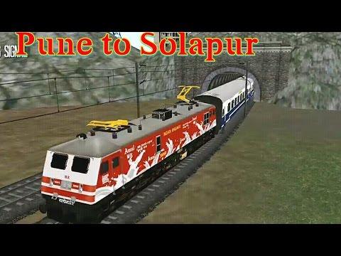 Pune to Solapur with amul wap5 update 1.7   indian train simulator