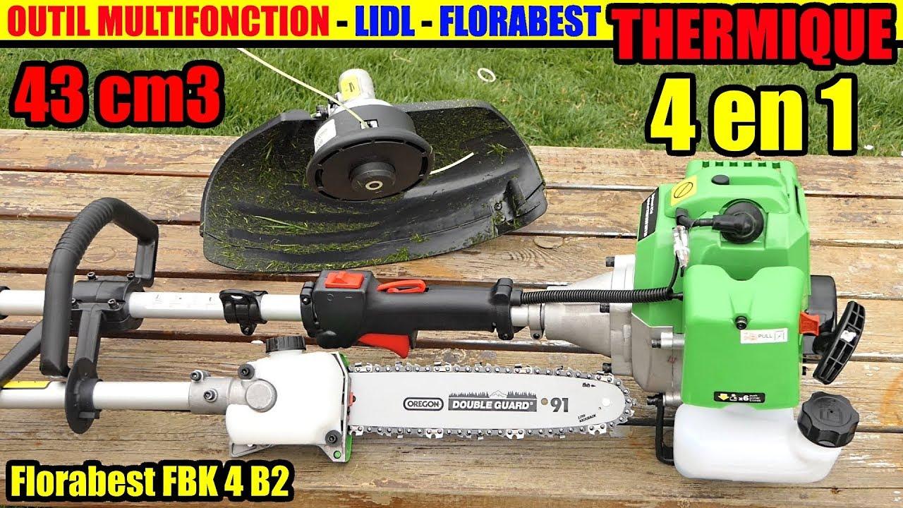 outil modulable à essence lidl florabest 4 en 1 thermique fbk 4 b2 petrol  multi-tool