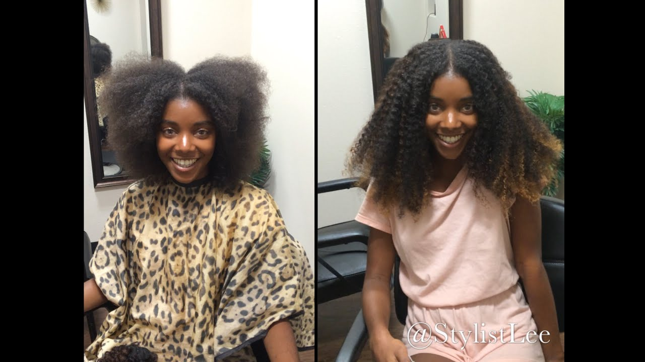 Get the length 4a natural hair before after custom get the length 4a natural hair before after custom highlights la hair salon youtube pmusecretfo Image collections