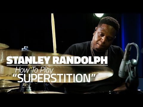 "Stanley Randolph: How To Play ""Superstition"" - Drum Lesson (DRUMEO)"