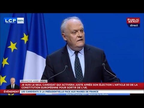 François ASSELINEAU - Invité de l'Association des Maires de France - LCP & Public Sénat - 22/03/2017