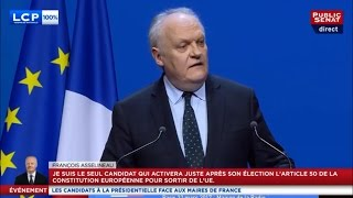 François ASSELINEAU - Invité de l'Association des Maires de France - LCP & Public Sénat - 2