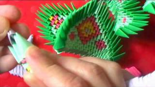 3d Origami Dragon Boat Time Lapse