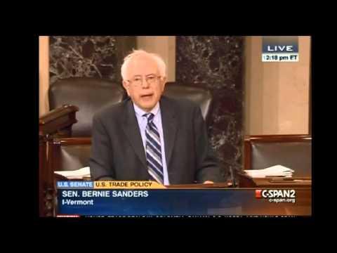 Sen. Bernie Sanders predicts #PanamaPapers in 2011