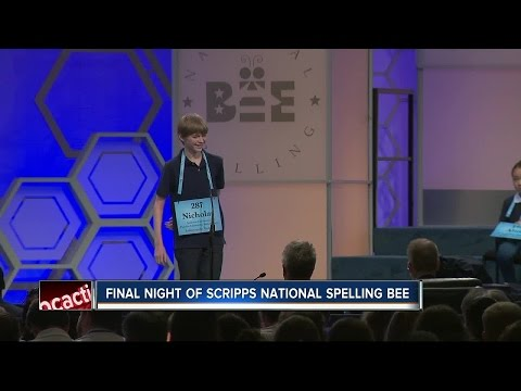 Final night of Scripps National Spelling Bee
