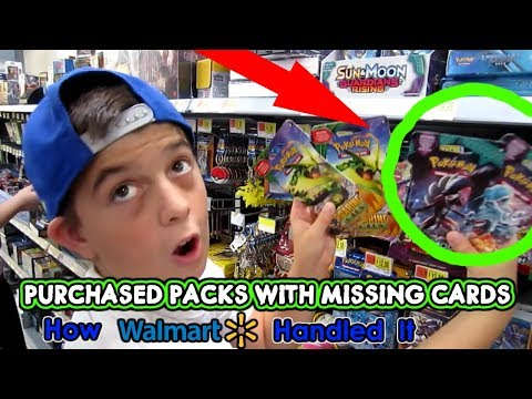 Purchased Pokémon Cards at Walmart Missing. How Walmart handled it. Crazy!