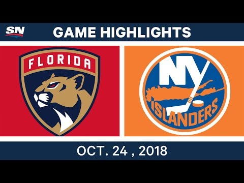 NHL Highlights | Panthers vs. Islanders - Oct. 24, 2018