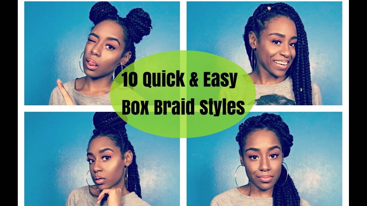 how to: style jumbo box braids | 10 quick & easy protective styles