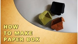 Origami | How To Make Paper Box | Traditional Paper Toy