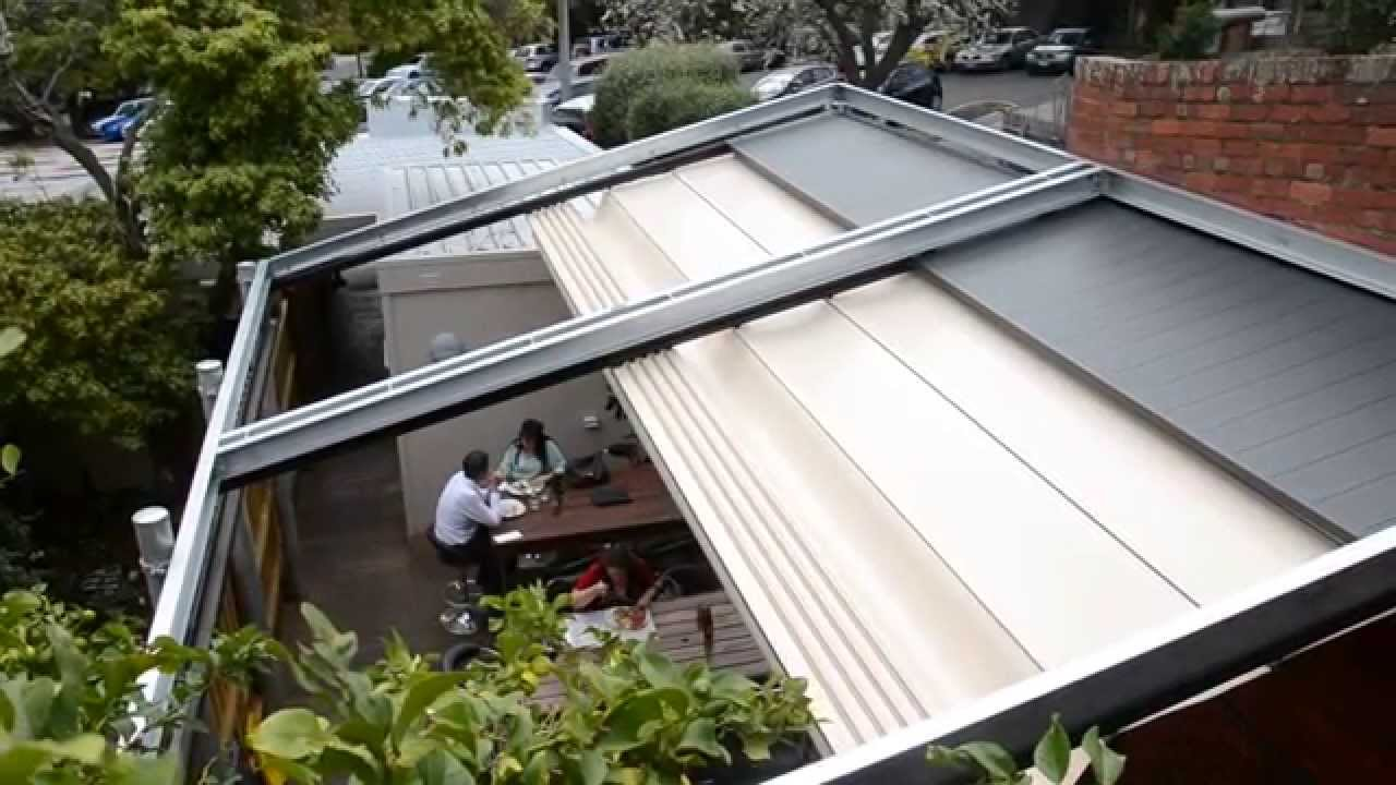 downee easyshade motorised pergola commercial shade system automation youtube. Black Bedroom Furniture Sets. Home Design Ideas