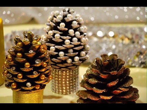 diy pine cone christmas trees miniature christmas tree caft diy projects - Homemade Pine Cone Christmas Decorations