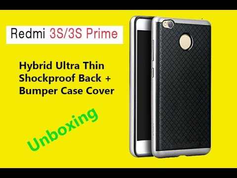 new style cf8c3 89796 Redmi 3S Prime Hybrid Ultra Thin Shockproof Back + Bumper Case Cover  unboxing