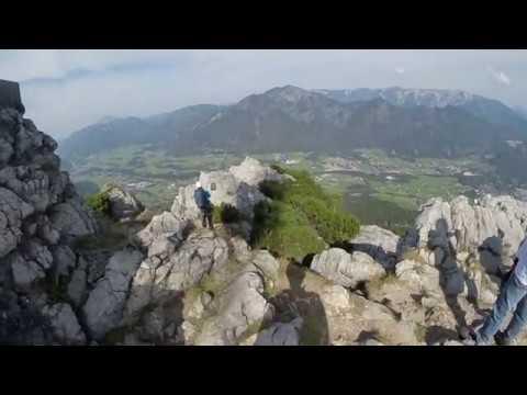 Klettersteig Katrin : Katrin klettersteig youtube