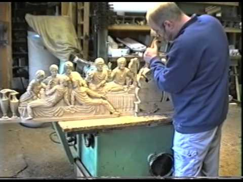 Wood carving of the last supper picture of the upper room chapel