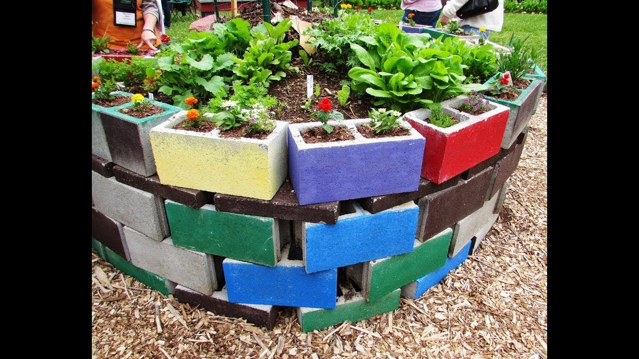 35 beautiful cinder block garden design ideas - Cinder Block Garden Ideas