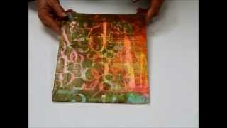 Textures Transfers and Crackles with Sandra Duran Wilson
