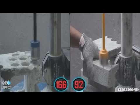 Vídeo Comparativo de Rendimento Serra Copo Diamantada JRC x Concorrente