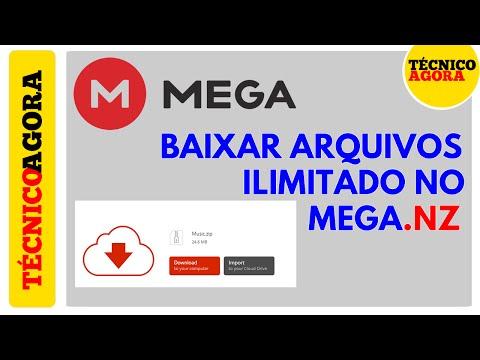 Como remover o limite de download do MEGA.NZ.