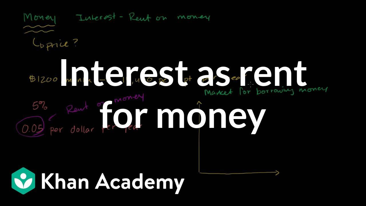 Interest As Rent For Money | The Monetary System