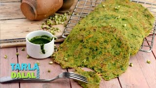 Sprouts Pancakes ( Healthy Breakfast) by Tarla Dalal
