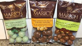 From California: Marich Mint Maltballs, Chocolate Sea Salt Caramel Popcorn & Toffee Almonds