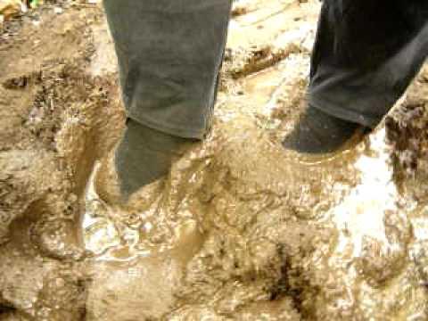 P1070601 Kim Mud FlatMOV Kim Black Flat Shoes In Mud