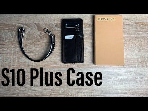 TOOVREN Samsung Galaxy S10 Plus Wallet Case