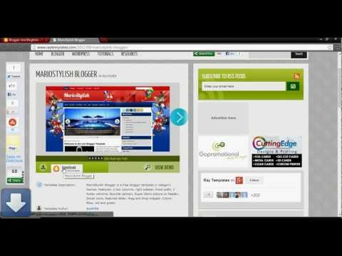 How to change a blog template on blogger - YouTube
