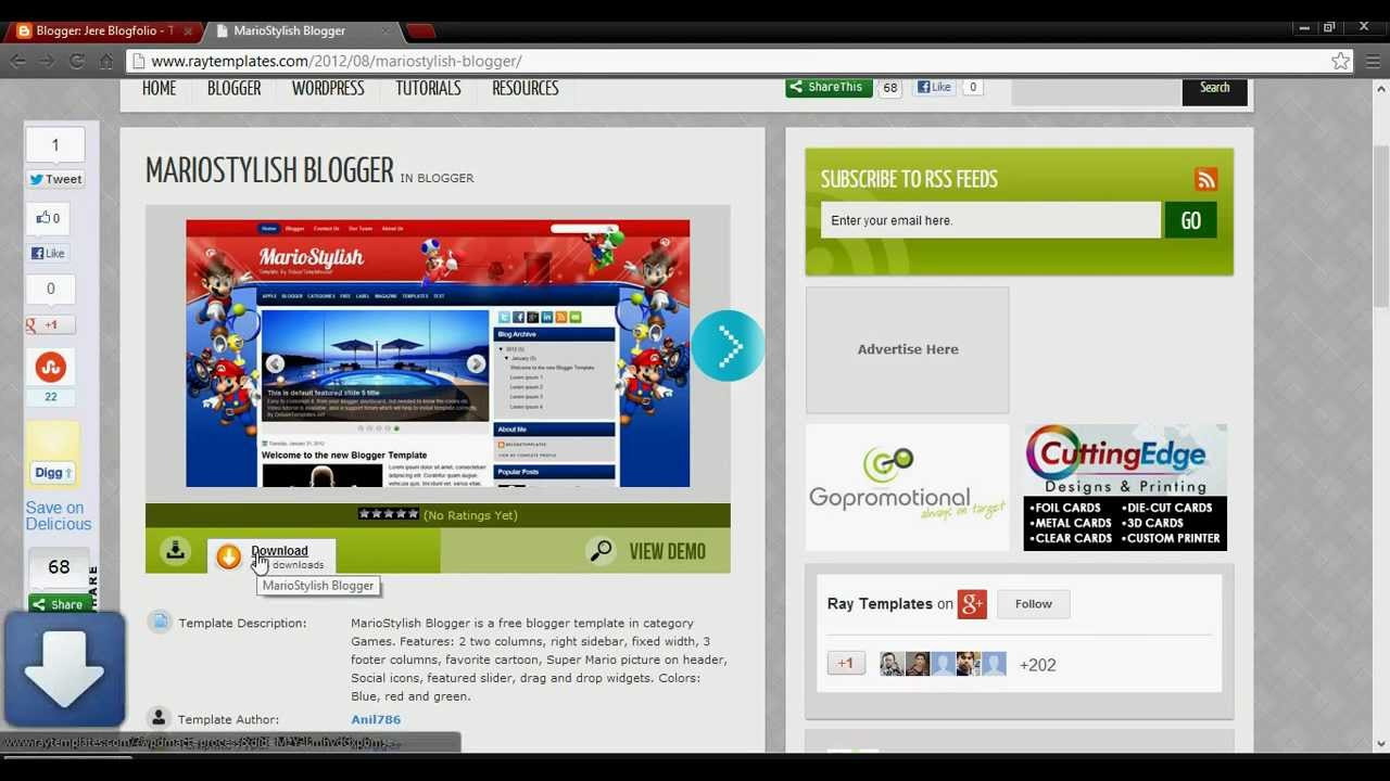 How to change Blogger template 2013(Tutorial) - YouTube