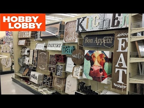 HOBBY LOBBY KITCHEN COOKING WALL DECOR HOME DECOR SHOP WITH ME SHOPPING STORE WALK THROUGH 4K