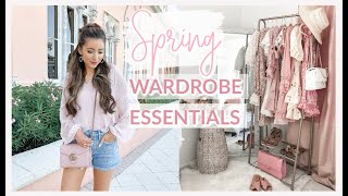SPRING WARDROBE ESSENTIALS 2020 | DRESSES, TOPS, SHOES, BAGS + MORE!