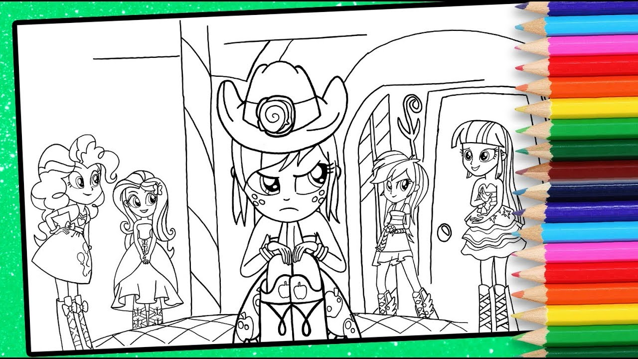 MLP Equestria girls colouring page