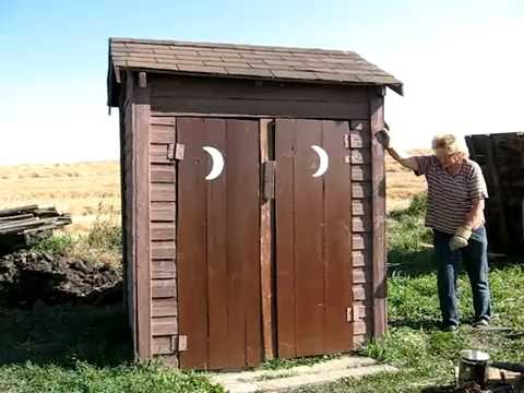 Image result for old man in outhouse