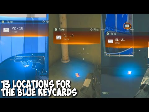 13 Blue Keycard Locations In The Stadium Easter Egg - Warzone