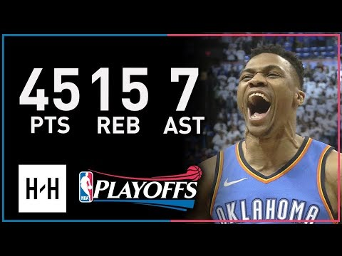 Russell Westbrook UNREAL Full Game 5 Highlights vs Jazz 2018 NBA Playoffs - 45 Pts, EPIC COMEBACK