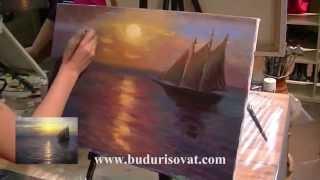 """Учимся рисовать маслом морской пейзаж. Мастер-класс по живописи в студии """"Буду рисовать"""""""
