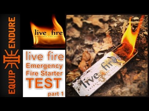 Live Fire Emergency Fire Starter Test Part 1, by Equip 2 Endure