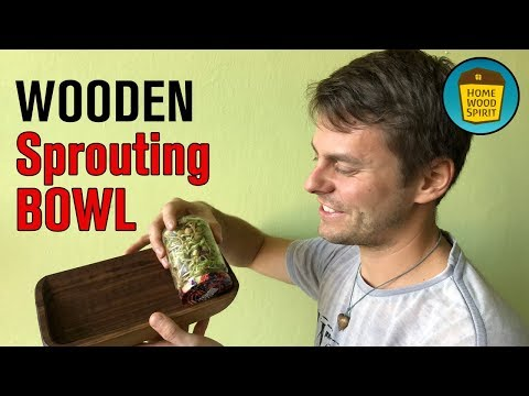 Wooden Sprouting Bowl With Jars - DIY