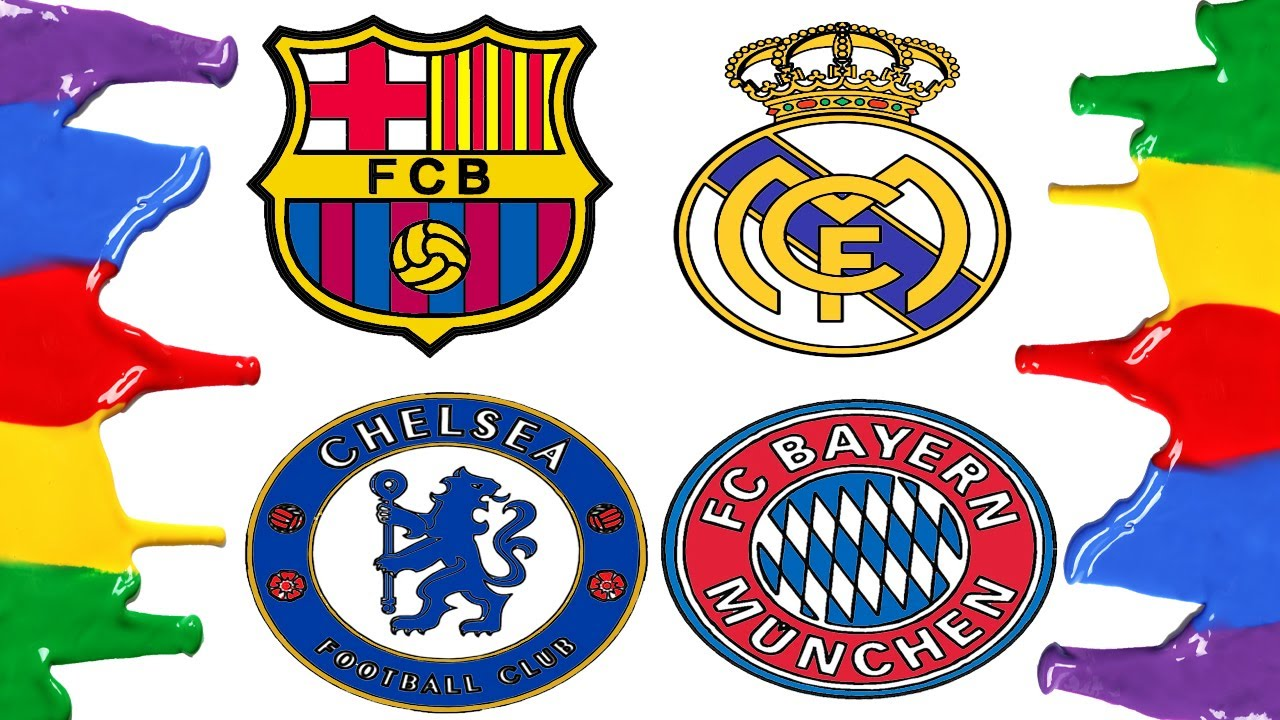 How To Draw And Color Barcelona Real Madrid Bayern Munich And Chelsea Logos Coloring Pages