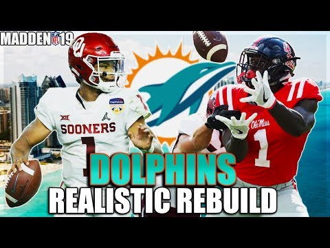 Kyler Murray And Metcalf DESTROY   Miami Dolphins Realistic Rebuild   Madden 19 Franchise Rebuild