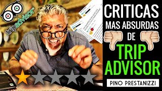 Reaccionando a las CRÍTICAS más ABSURDAS de TripAdvisor   Pino Prestanizzi