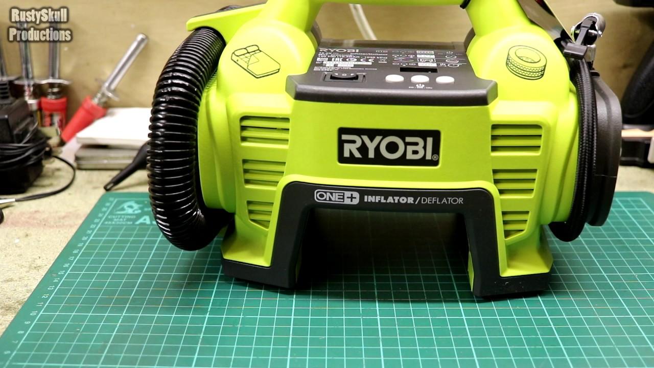 ryobi one+ compressor review - rustyskull productions - youtube
