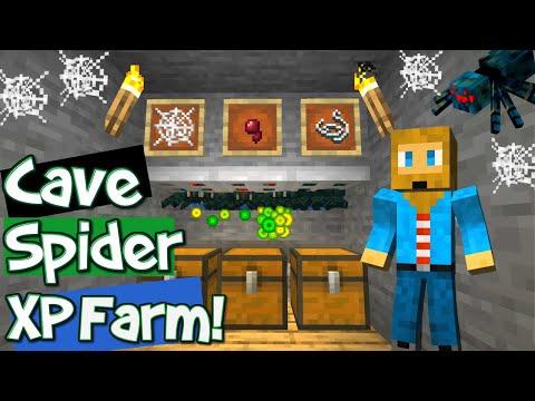 Minecraft Cave Spider XP Farm [BEST DESIGN!] Cave Spider XP Farm Tutorial