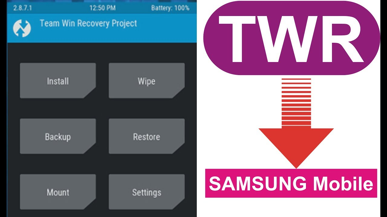 How to install twrp recovery /twrp android/samsung j1 sm j100h by waqas  mobile