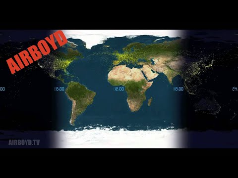 24 Hours Of World Air Traffic