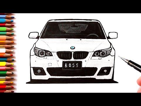 Как нарисовать машину BMW M5 E60 | Ehedov Elnur
