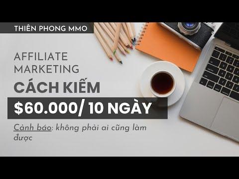 Affiliate marketing: kiếm $60.000 trong 10 ngày với hơn 200% ROI