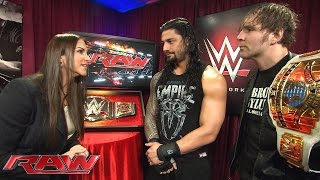 Stephanie McMahon plays mind games with Roman Reigns and Dean Ambrose: Raw, February 1, 2016