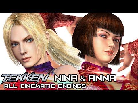 NINA & ANNA WILLIAMS  All Cinematic Endings in TEKKEN Series 19942017